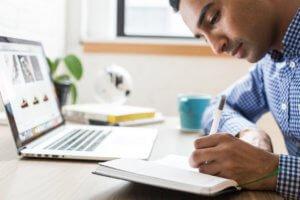 Young entrepreneur startup plans